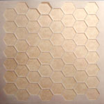Honeycomb Laser Etched Acrylic Stencil