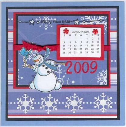 Hetty's Snowman Calendar Card